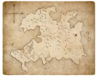 Treasure medieval pirates map page isolated royalty free stock images