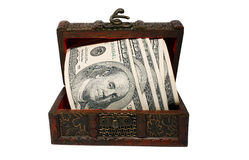 Treasure with money Stock Photography