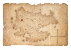 Treasure pirates map isolated with clipping path included royalty free illustration