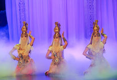 Treasure pot dance-Hui ballet moon over Helan Royalty Free Stock Photography