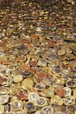 Treasure Room. Bathtub full of Euro Coins. Shallow depth of field in the middle of the picture. Adobe RGB Royalty Free Stock Images