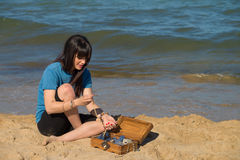 Treasure on the sand Royalty Free Stock Photography