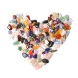 Treasure stone heart on a white Royalty Free Stock Photos