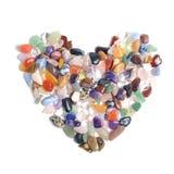 Treasure stone heart on a white Royalty Free Stock Photo
