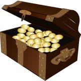 Treasure, Treasure Chest, Gold Royalty Free Stock Image