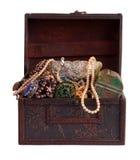 Treasure trunk with jewellery Stock Image