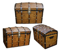 Treasure Wood Box royalty free stock images