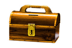 Treasure wood box Stock Photography