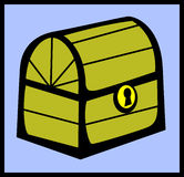 Treasure wooden chest. Vector file available. Illustration of a treasure wooden chest. Vector format available as EPS file Royalty Free Stock Images