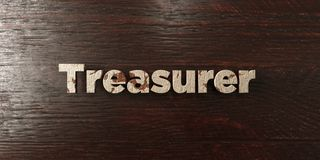 Treasurer - grungy wooden headline on Maple  - 3D rendered royalty free stock image. This image can be used for an online website banner ad or a print postcard Stock Photo