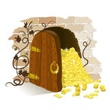Treasures of the ancient door Royalty Free Stock Photo