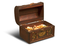 Treasures in chest Royalty Free Stock Photography