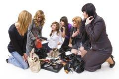 Treasures of ladies' handbags Royalty Free Stock Images