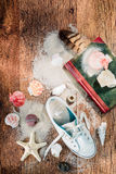 Treasures from the sea and beach Stock Photo