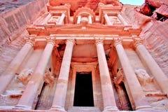 The Treasury (Al Khazneh) of Petra Ancient City Royalty Free Stock Photography