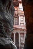 Treasury (al-khazneh), Petra, Jordan stock photography