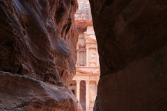 The Treasury,Al Khazneh, in Petra, Jordan.  Royalty Free Stock Photos