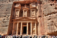 The Treasury (Al Khazneh) - Petra, Jordan Stock Images