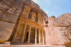 The Treasury (Al Khazneh), Petra, Jordan. Royalty Free Stock Photo