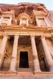 The Treasury Al-Khazneh Temple in Petra city Stock Photo