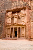 The Treasury. Ancient city of Petra royalty free stock images