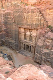 The Treasury in the  Ancient city of Petra, Jordan as seen from Stock Photography