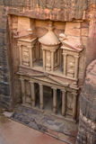 The Treasury in the  Ancient city of Petra, Jordan as seen from Stock Photos