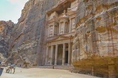 The Treasury in the  Ancient city of Petra, Jordan Royalty Free Stock Image