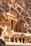 The Treasury in the ancient Jordanian city of Petra Royalty Free Stock Image
