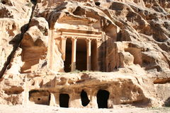 The Treasury in the ancient Jordanian city of Petra Stock Photo
