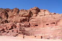 The Treasury in the ancient Jordanian city of Petra Stock Photos