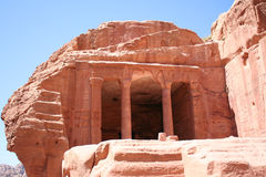 The Treasury in the ancient Jordanian city of Petra Stock Images