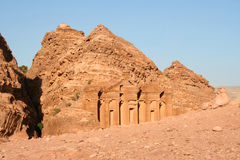 The Treasury in the ancient Jordanian city of Petra Royalty Free Stock Images