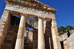 The treasury of the athenians - delphi Stock Photo
