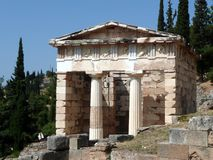 Treasury of the Athenians, Delphi Royalty Free Stock Image