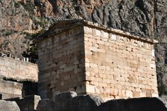 The treasury of the athenians - delphi , greece Royalty Free Stock Photos