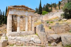 The Treasury of Athens. In Delphi, Greece Royalty Free Stock Images