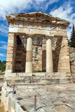 Treasury of Athens in Ancient Greek archaeological site of Delphi, Greece Stock Photography