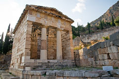 Treasury of Athens, Delphi Stock Photography