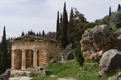 Treasury of Athens in Delphi, Greece Stock Photography