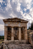 Treasury of Athens in Delphi Stock Image