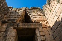 Treasury of atreus at mycenae, Greece Royalty Free Stock Photography
