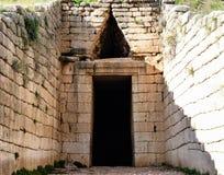 Treasury of atreus at mycenae, Greece Stock Images