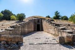 Treasury of Atreus in Mycenae, Greece Royalty Free Stock Images