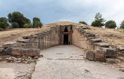Treasury of Atreus Tomb of Agamemnon Mycenae Greec Stock Photos