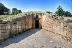 Treasury of Atreus Tomb of Agamemnon Mycenae Greece Stock Photo