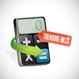 Treasury bills message illustration design Stock Photo