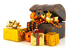 Treasury box for Christmas Royalty Free Stock Images