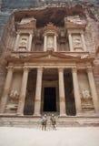 The Treasury building or Al Khazneh at Petra, Jordan Royalty Free Stock Image