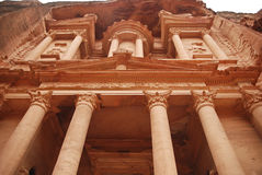 The Treasury building in Petra Stock Photography